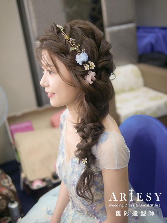 送客造型,編髮造型,新秘花藝,新娘髮型,新娘鮮花造型