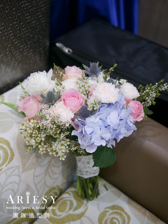 白紗進場髮型,宴客捧花,新秘,新娘秘書推薦,花藝造型