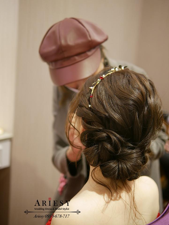 送客造型,新娘秘書,新娘髮型,台北新秘