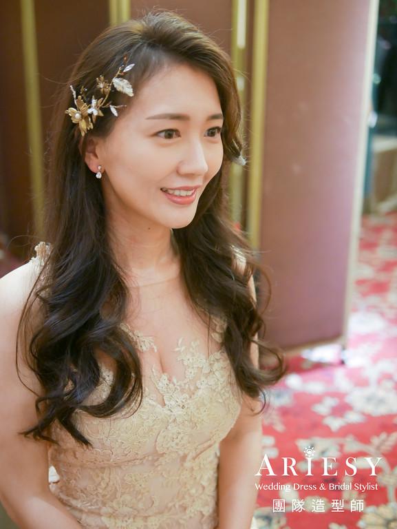 送客造型,新秘推薦,名媛新娘,新娘髮型,新娘髮型