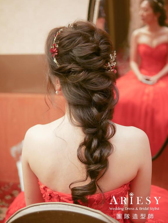 文定髮型,編髮造型,新秘,新娘秘書推薦,花藝造型