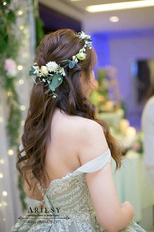 愛瑞思,新娘秘書,台北新秘,ariesy新秘,鮮花新秘,花圈造型