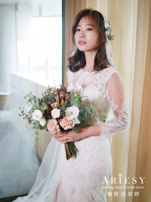 白紗進場髮型,新娘復古造型,新娘秘書,新娘秘書推薦,證婚造型