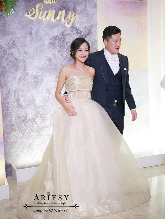 新娘名媛造型,愛瑞思,ARIESY,寒舍艾麗婚禮,蒂米琪禮服,黑髮新娘
