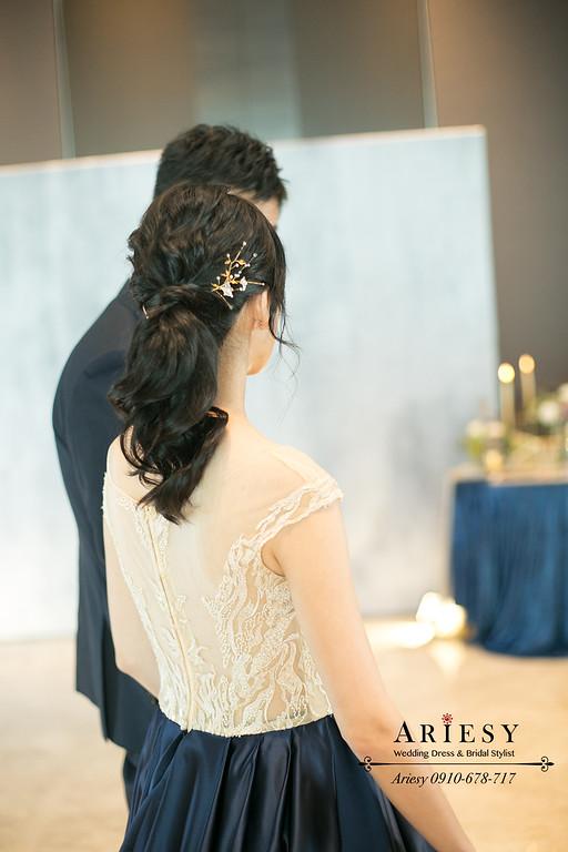 台北新秘推薦,馬尾新娘造型,新娘秘書,黑髮新娘髮型,愛瑞思,ARIESY