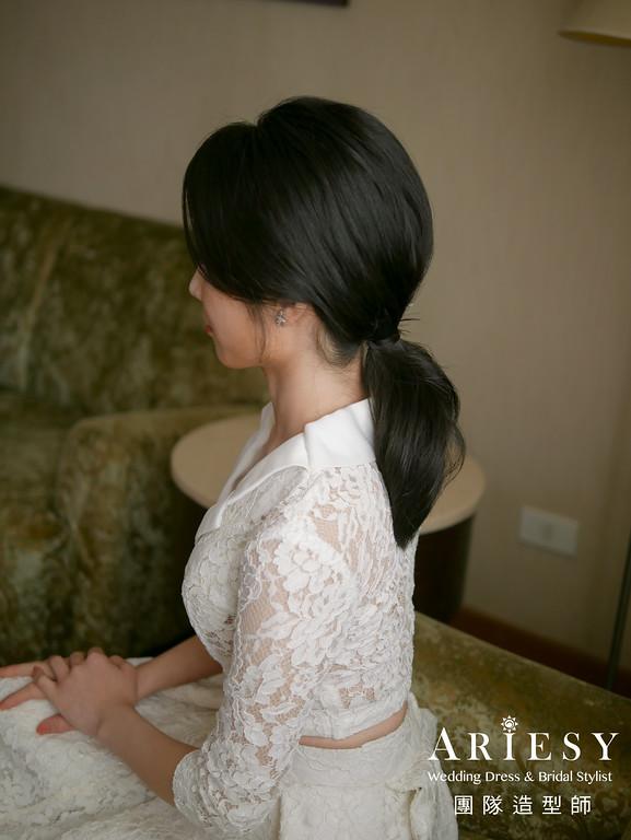 進場髮型,新娘黑髮造型,新娘髮型,新娘自然妝感,新娘秘書