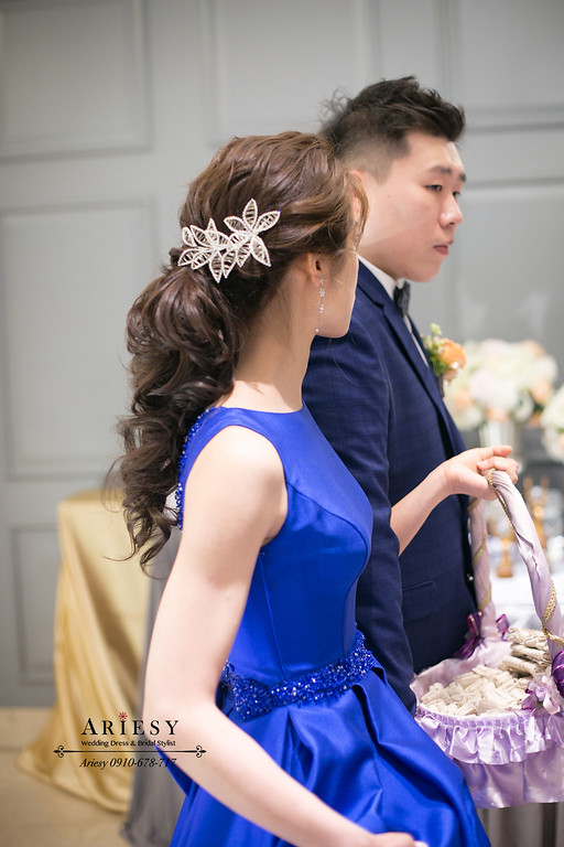 新娘秘書,敬酒馬尾髮型,台北新秘推薦,新莊晶宴,愛瑞思,Ariesy,編髮新娘造型