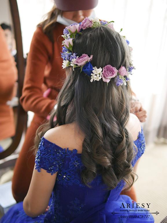 花圈造型,鮮花造型,送客髮型,愛瑞思,新秘價格,新秘,新秘推薦