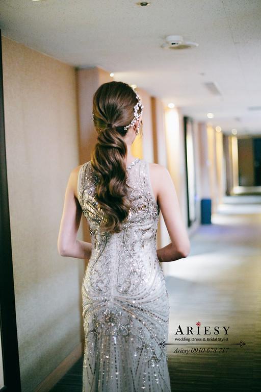 新娘秘書,新秘,台北新秘推薦,送客新娘造型,名媛新娘髮型,新娘秘書推薦愛瑞思,愛瑞思ariesy婚紗禮服