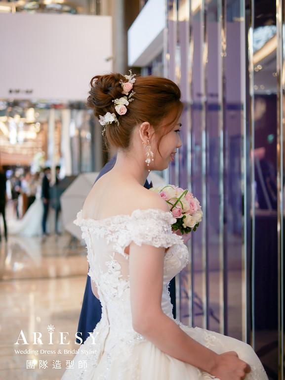 進場髮型,花藝造型,新秘,新娘髮型,新秘花藝