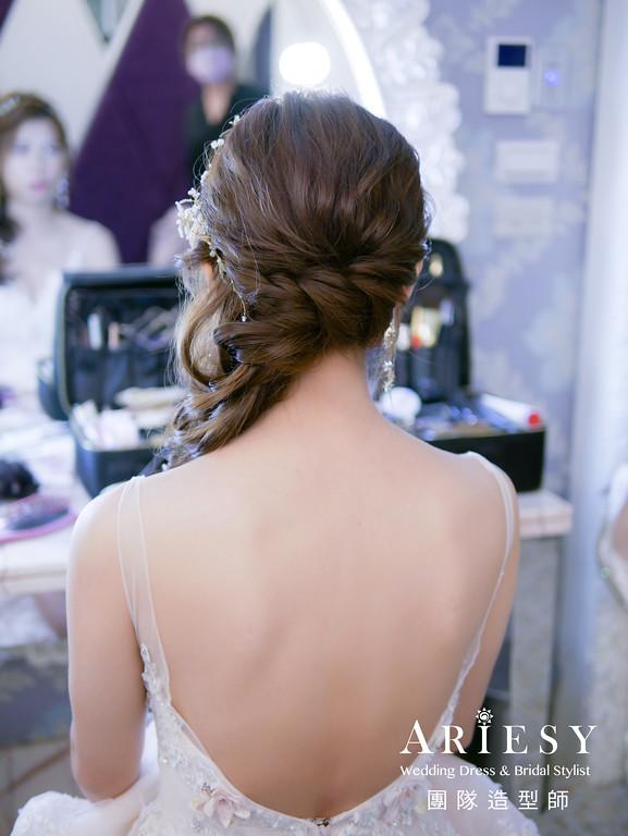 敬酒髮型,編髮造型,新娘秘書,台北新秘,甜美新娘