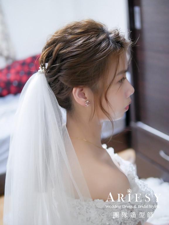 迎娶髮型,新秘推薦,馬尾造型,氣質自然妝,新娘自然妝感
