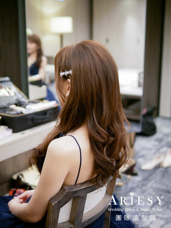 送客造型,放髮造型,新娘造型,晶華酒店,氣質新娘造型