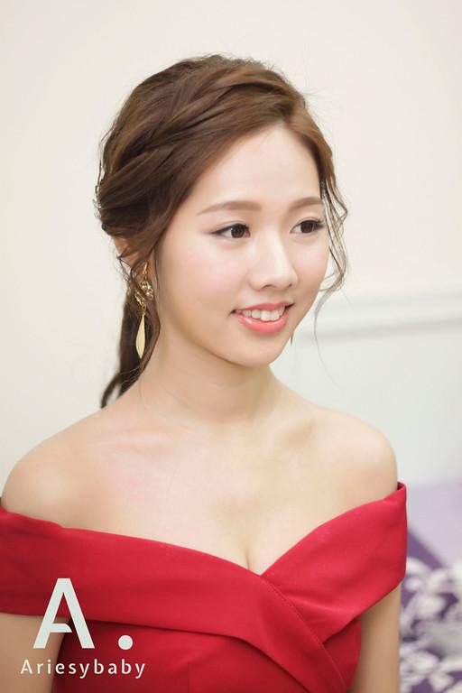 新娘秘書,紅禮服造型,歐美新娘髮型,文定造型,新娘髮型