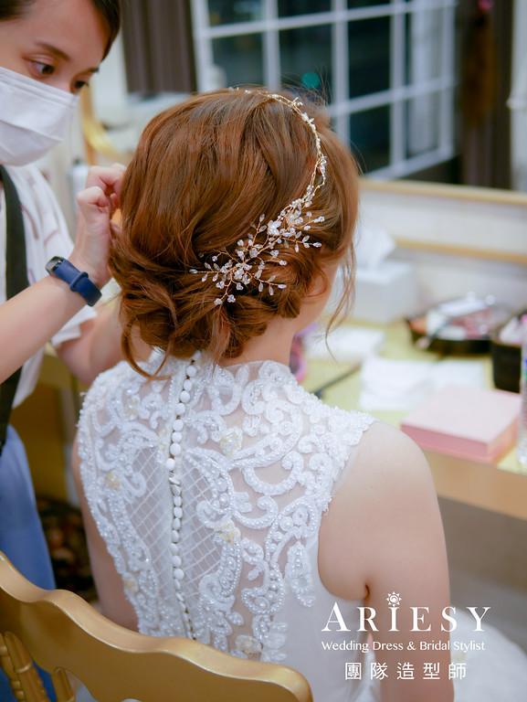 進場髮型,新娘編髮造型,台北新秘,精緻妝感,歐美風格