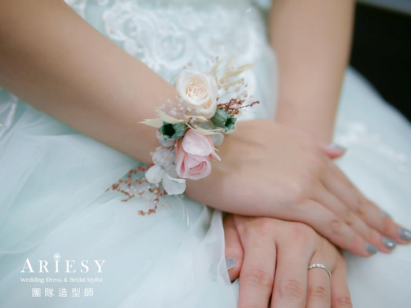 敬酒髮型,新秘推薦,新娘髮型,編髮造型,手腕花