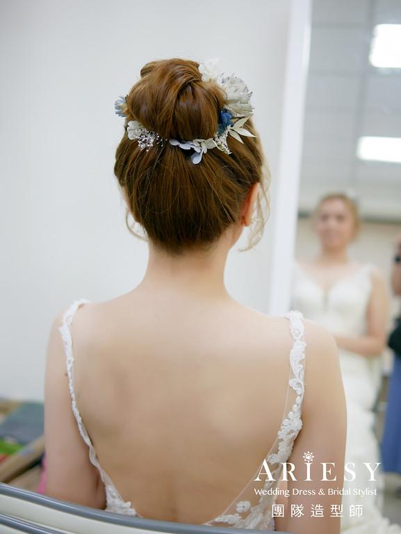 證婚髮型,清透自然妝,新娘造型,新娘花藝造型,新秘花藝