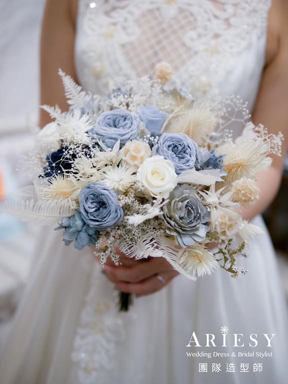 新秘花藝,不凋花捧花,客製捧花,宴客捧花,捧花