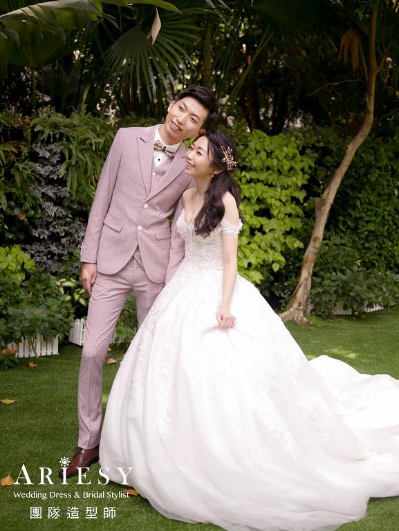 奉茶髮型,台北新秘,新娘公主頭造型,氣質新娘,新娘白紗造型