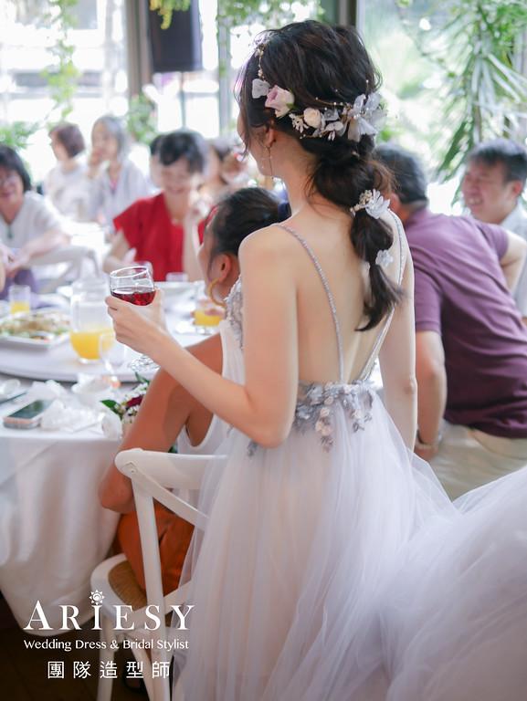 敬酒髮型,新秘,新娘髮型,花藝造型,新秘編髮