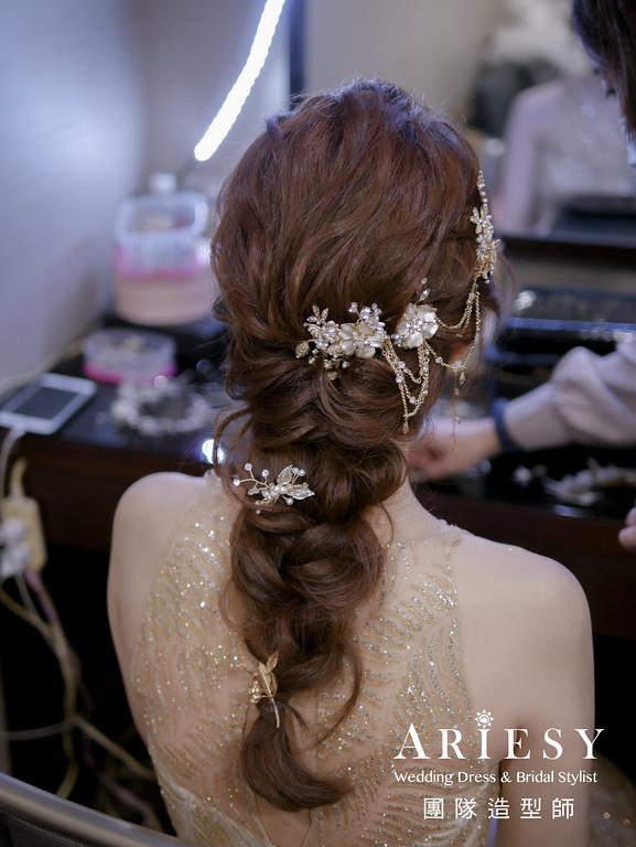 敬酒髮型,新秘編髮,新娘秘書,日系編髮造型,空氣感編髮