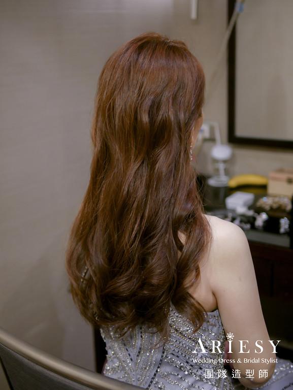 送客髮型,放髮造型,時尚造型,名媛造型,新娘髮型
