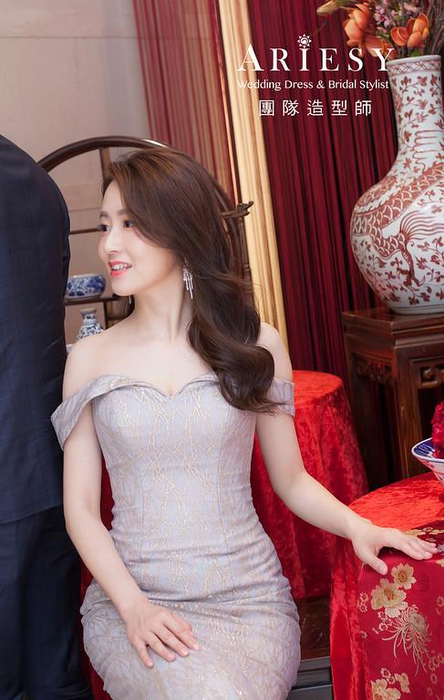 台北新祕,新娘秘書,新娘造型,編髮新祕,文定造型,自然清透底妝,新娘髮型,編髮造型,時尚名媛風