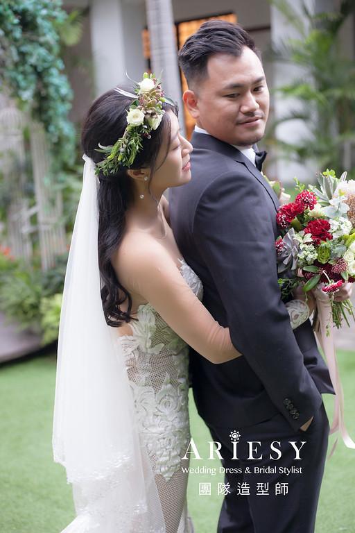 台北新祕,新娘秘書,新娘造型,編髮新祕,白紗造型,自然清透妝感,新娘髮型,黑髮新娘,歐美風新娘
