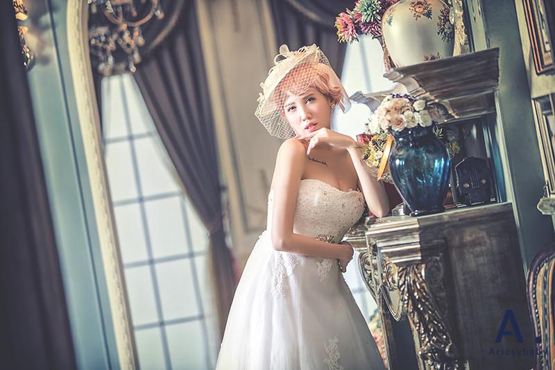 粉紅色新娘頭髮造型,特殊髮色新娘髮型,新娘造型,新娘髮型作品,台北新秘