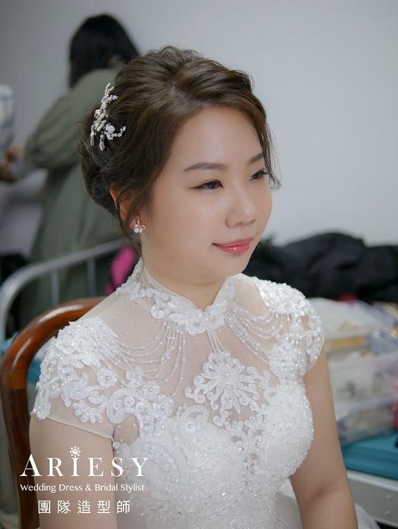 證婚造型,新秘推薦,編髮造型,新娘髮型,精緻自然妝感