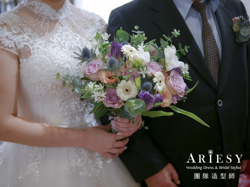 宴客捧花,訂製捧花,歐美捧花,紫色系捧花,新秘花藝