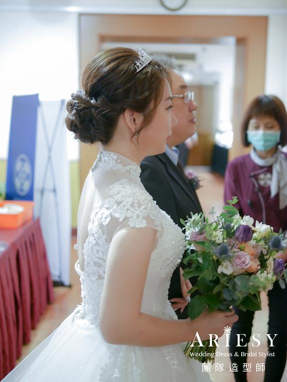 進場造型,新娘造型,新娘皇冠造型,自然妝感,新娘編髮