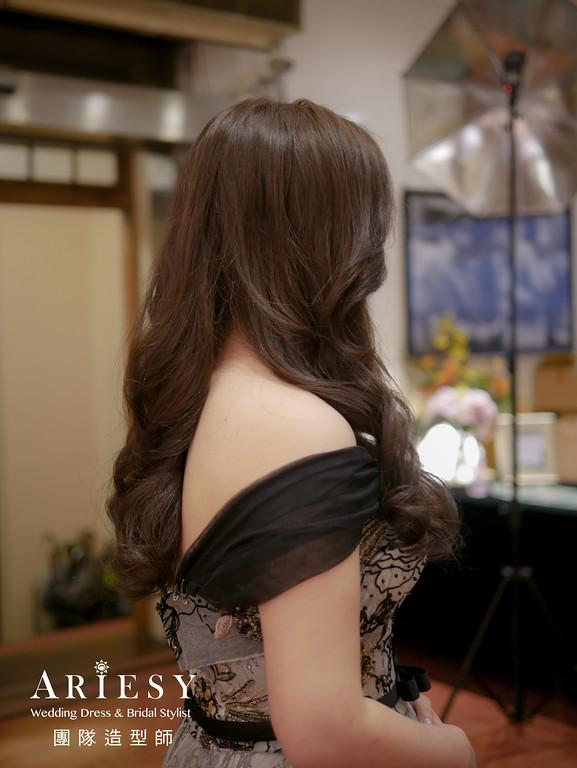 送客造型,新娘放髮造型,清透自然妝,新娘造型,時尚造型