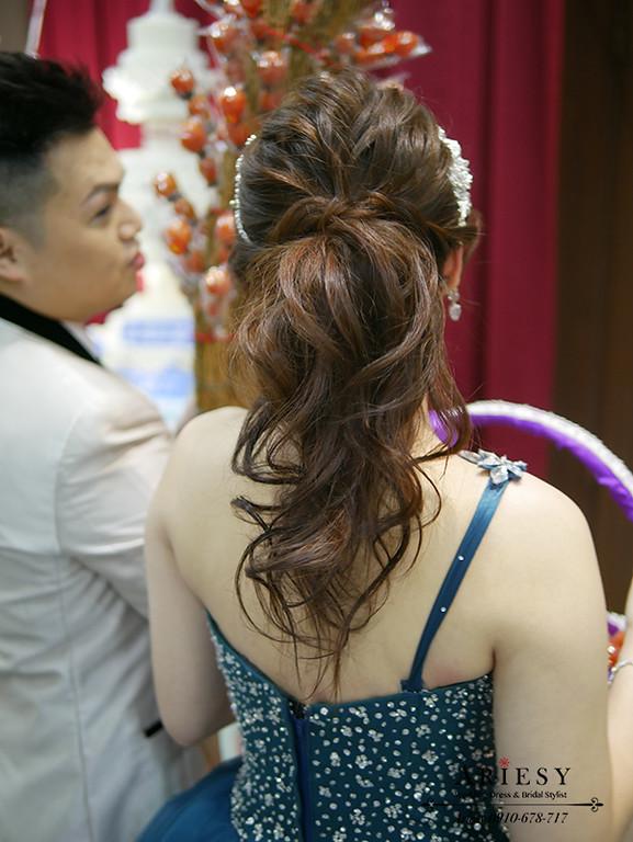 新娘秘書,台北新秘,馬尾新娘髮型,新娘造型,敬酒造型,日系新娘髮型
