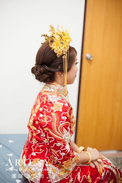 乾淨編髮,新娘秘書推薦,迎娶造型,龍鳳掛造型,龍鳳掛髮型