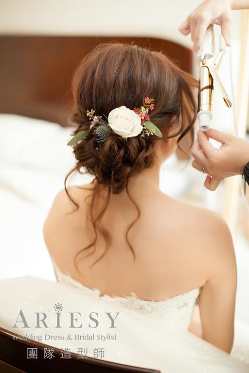 鮮花造型,新娘秘書,白紗造型,新秘花藝,新娘造型