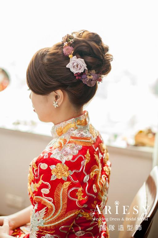 龍鳳掛造型,新秘推薦,送客造型,鮮花飾品,新秘花藝