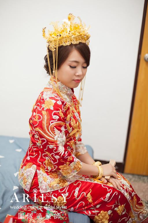 乾淨編髮,新娘秘書推薦,迎娶造型,龍鳳掛造型,龍鳳褂髮型