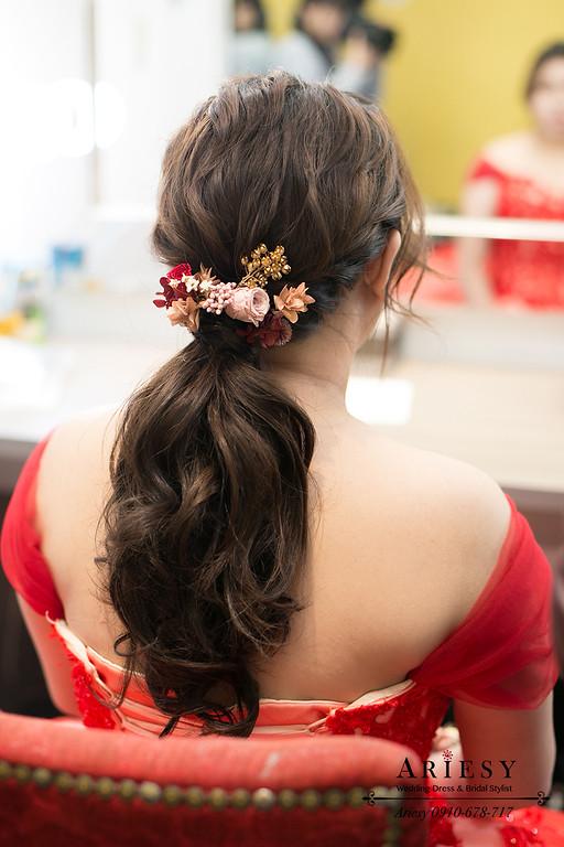 鮮花造型,編髮造型,新秘,新娘秘書,台北新秘,新莊晶宴婚禮,新娘造型