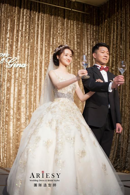台北新祕,新娘秘書,新娘造型,自然清透妝感,蓬鬆編髮,白紗造型,新娘髮型,瘦新娘