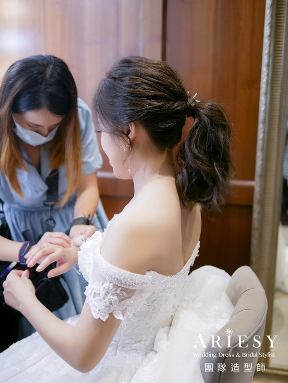送客髮型,新娘馬尾造型,新娘髮型,新秘,新秘編髮