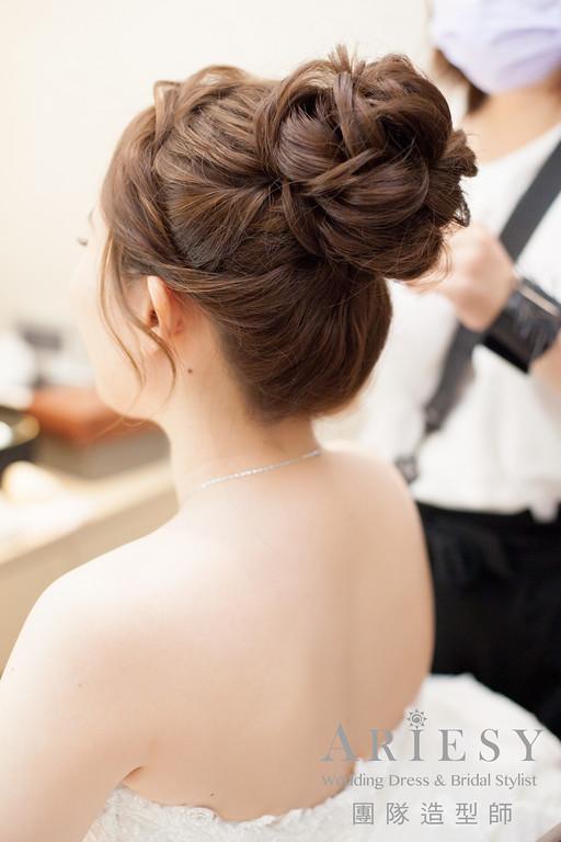 迎娶髮型,新娘造型,新娘妝感,新娘髮型,白紗髮型