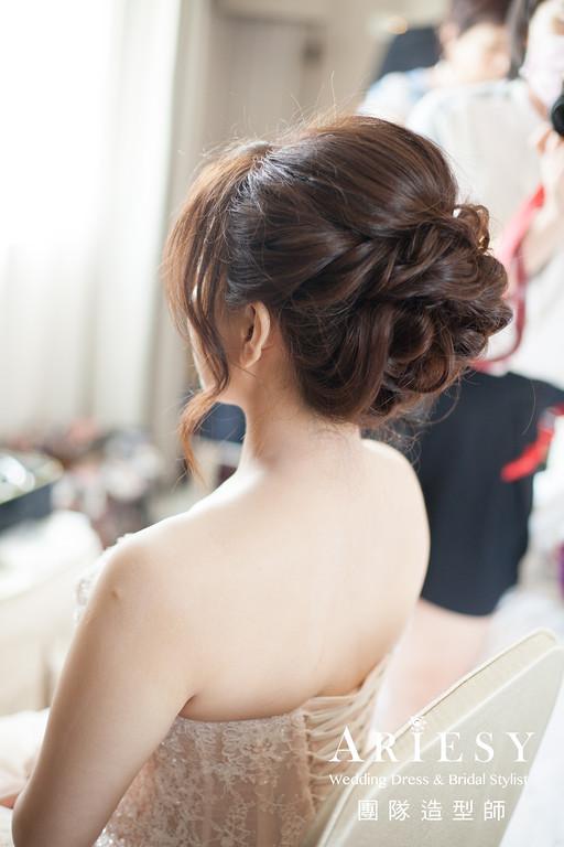 文定造型,新秘編髮,短髮新娘,新秘推薦,新娘鮮花造型