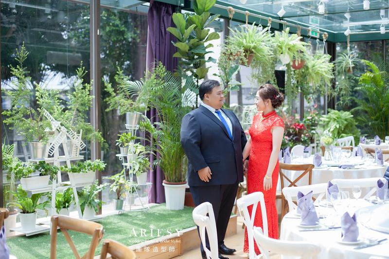 文定造型,新秘花藝,旗袍造型,新娘編髮,新娘進場造型