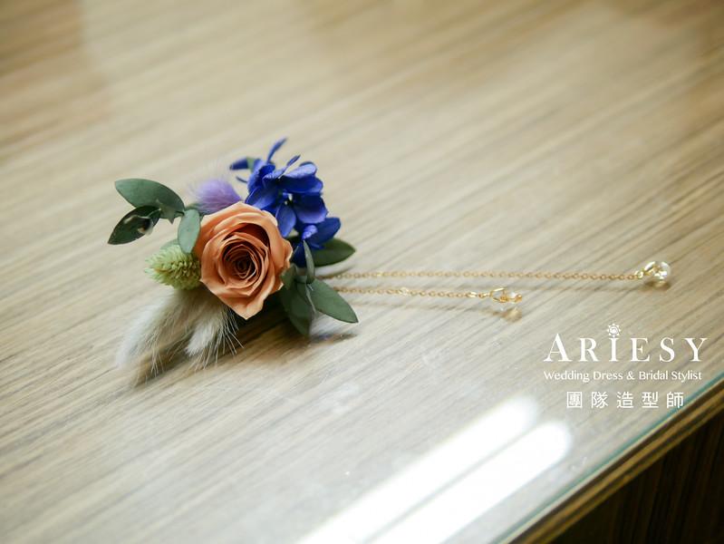 放髮造型,新秘花藝,不凋花髮飾,新秘手作飾品,新娘鮮花造型