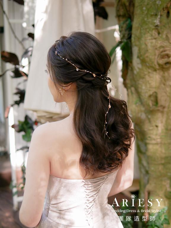 敬酒髮型,公主頭造型,新秘,新娘花藝,韓式新娘風格