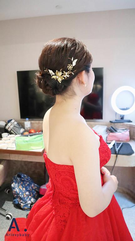 Ariesybaby造型團隊,短髮新娘,新娘祕書,新娘造型,新祕,黑髮造型,文定造型