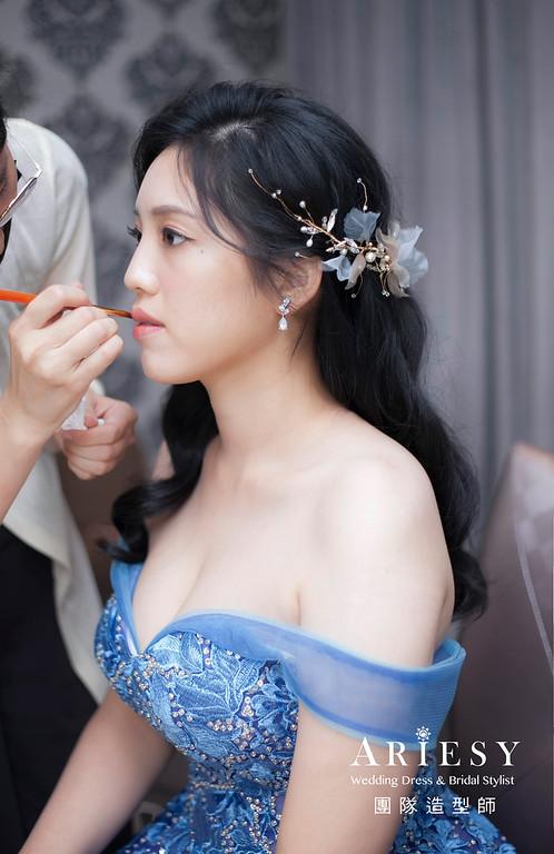 台北新祕,新娘秘書,新祕,新娘造型,自然清透妝感,新娘髮型,推薦新祕,黑髮新娘