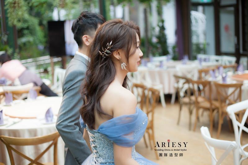 台北新祕,新娘秘書,新娘造型,自然清透妝感,蓬鬆放髮造型,新娘髮型,新祕