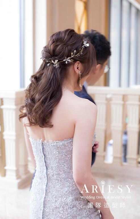 台北新祕,新娘秘書,新娘造型,新娘編髮,敬酒造型,自然清透妝感,新娘髮型,編髮造型,推薦新秘
